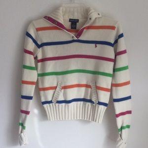 Ralph Lauren Girls Striped Sweater. Size XL.